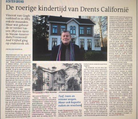 Dagblad van het Noorden schrijft mooie recensie over het boek Nieuw-Amsterdam/Veenoord.